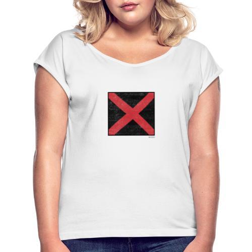 Boxed 008 - Frauen T-Shirt mit gerollten Ärmeln