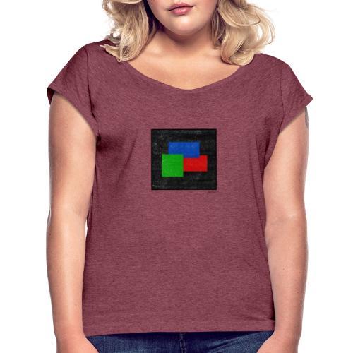 Boxed 006 - Frauen T-Shirt mit gerollten Ärmeln