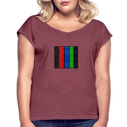 Boxed 011 - Frauen T-Shirt mit gerollten Ärmeln