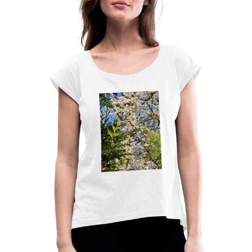 Spring Time - Dame T-shirt med rulleærmer