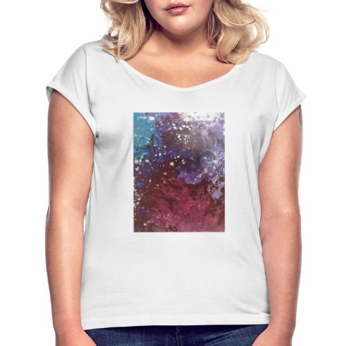 Galaxy - Women's T-Shirt with rolled up sleeves