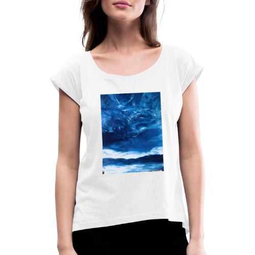 Art by J.Stefano #26 - Vrouwen T-shirt met opgerolde mouwen