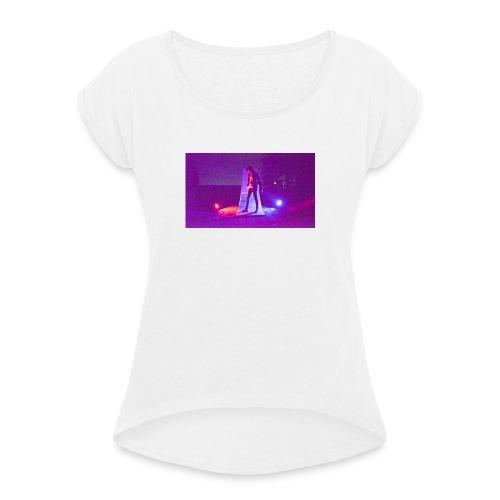 Do something or break out - Frauen T-Shirt mit gerollten Ärmeln