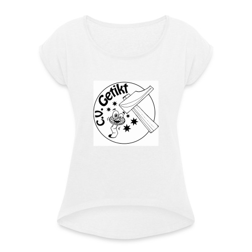 12096414_182161975453755_850597962879520643_n-jpg - Vrouwen T-shirt met opgerolde mouwen