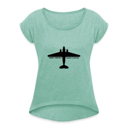 Daisy Silhouette Top 1 - T-shirt med upprullade ärmar dam