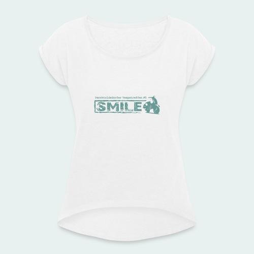 SMILE-Shirt 2018 - Frauen T-Shirt mit gerollten Ärmeln