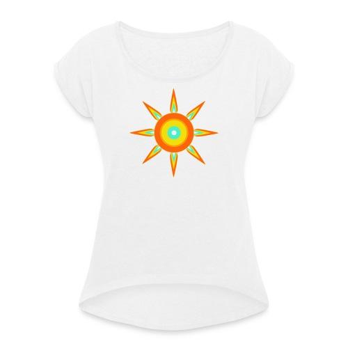 Strahlstern - Frauen T-Shirt mit gerollten Ärmeln