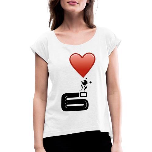 6bulle I love 6° - T-shirt à manches retroussées Femme