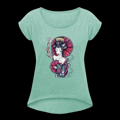 Geisha2 - Maglietta da donna con risvolti