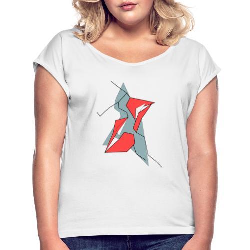 Lesbian Kiss - Camiseta con manga enrollada mujer