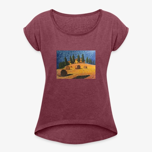 tuscany - Women's T-Shirt with rolled up sleeves