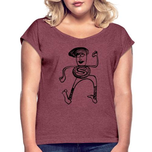 Super Pino - Maglietta da donna con risvolti