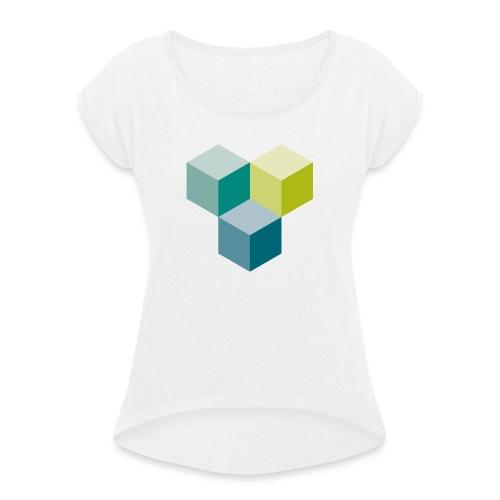 Cube - Frauen T-Shirt mit gerollten Ärmeln