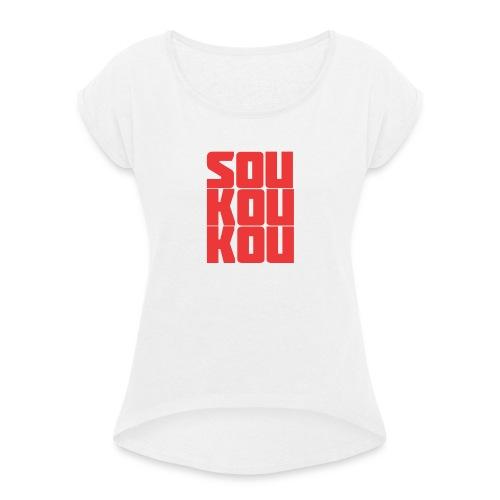 soukoukou Logo - T-shirt à manches retroussées Femme