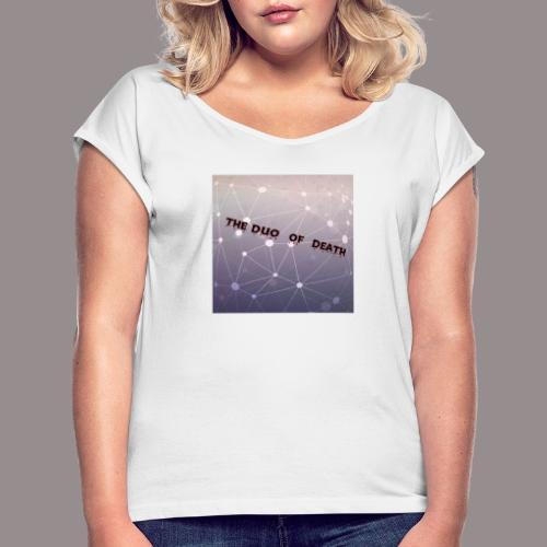 The duo of death logo - Vrouwen T-shirt met opgerolde mouwen
