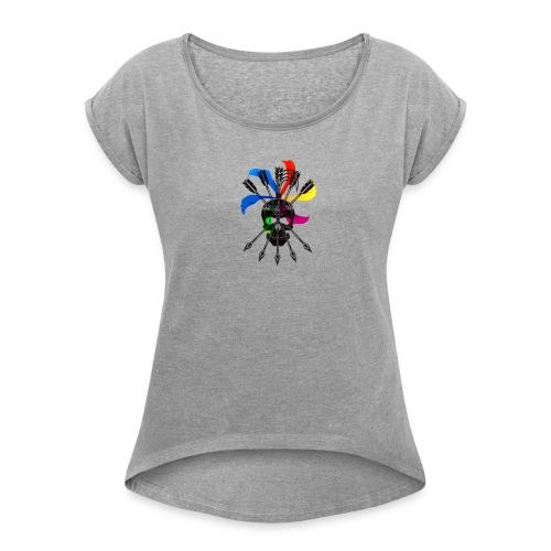 Blaky corporation - Camiseta con manga enrollada mujer