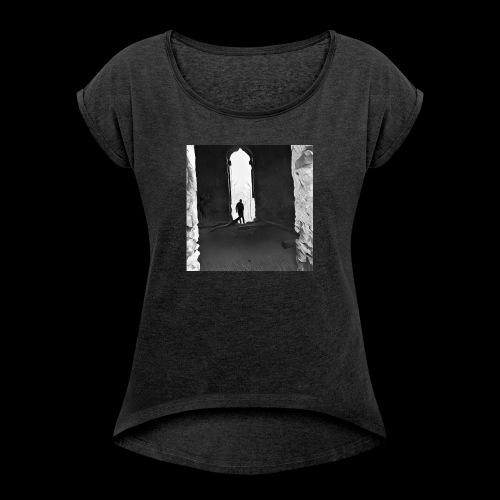 Misted Afterthought - Women's T-Shirt with rolled up sleeves