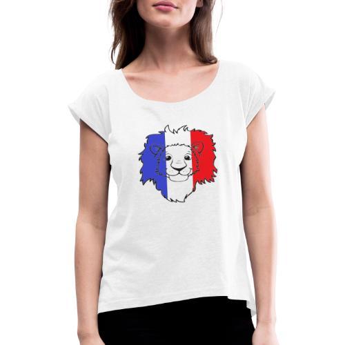 Lion France - T-shirt à manches retroussées Femme