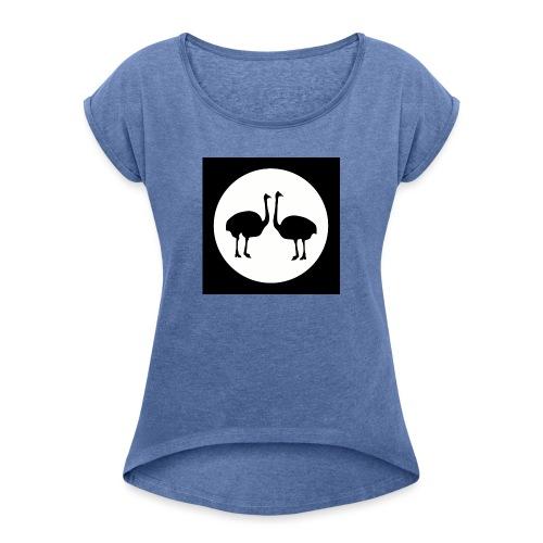 Strauß - Frauen T-Shirt mit gerollten Ärmeln