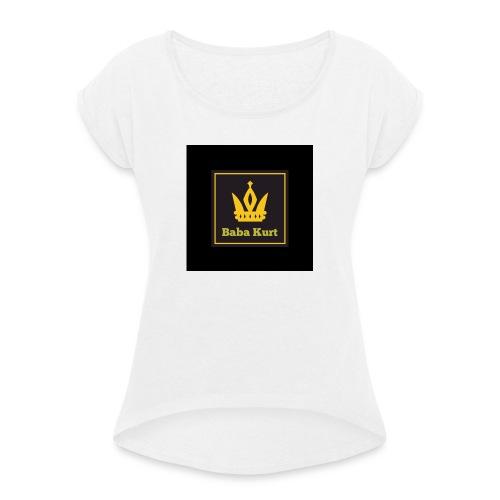 59BD123C 0AAC 41AA ACD0 856EB0A3AB92 - Frauen T-Shirt mit gerollten Ärmeln