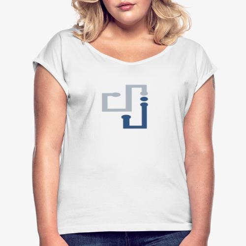 Amo la música DJ - Camiseta con manga enrollada mujer
