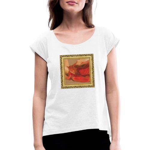 drape rouge - T-shirt à manches retroussées Femme