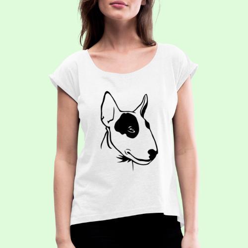 Bull Terrier - T-shirt à manches retroussées Femme