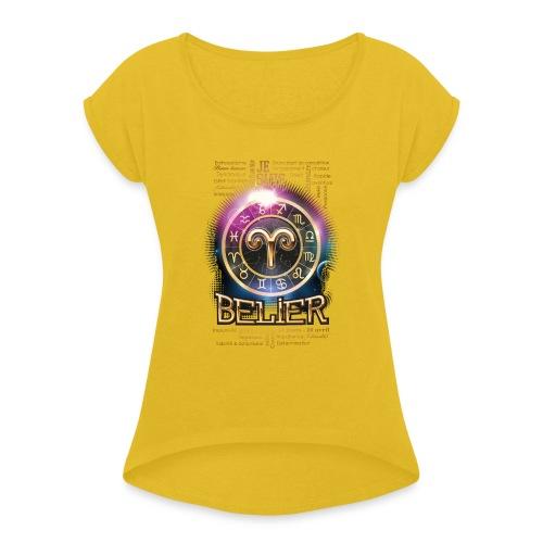 BELIER - T-shirt à manches retroussées Femme