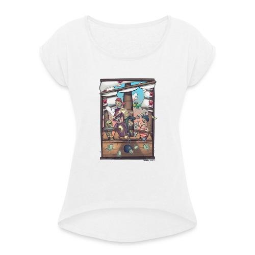 les pirates - T-shirt à manches retroussées Femme