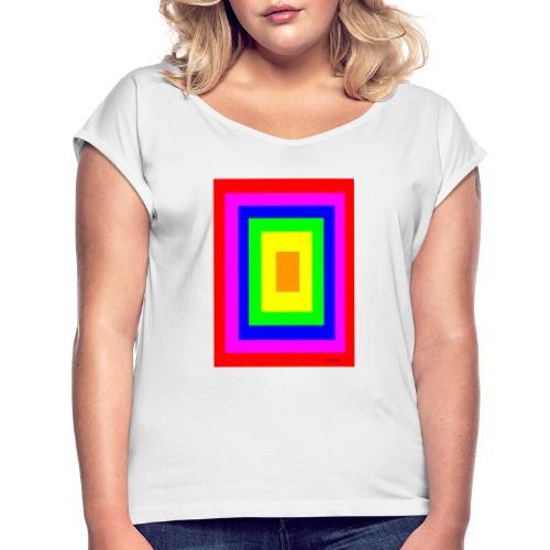 Perfect-COLOR - Maglietta da donna con risvolti