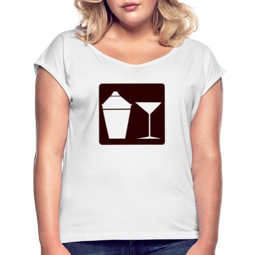 Alkohol - Frauen T-Shirt mit gerollten Ärmeln