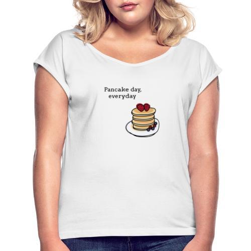 Pancake Design - Maglietta da donna con risvolti