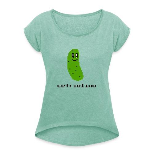 8-bit Pickle (Light T-Shirt) - Maglietta da donna con risvolti