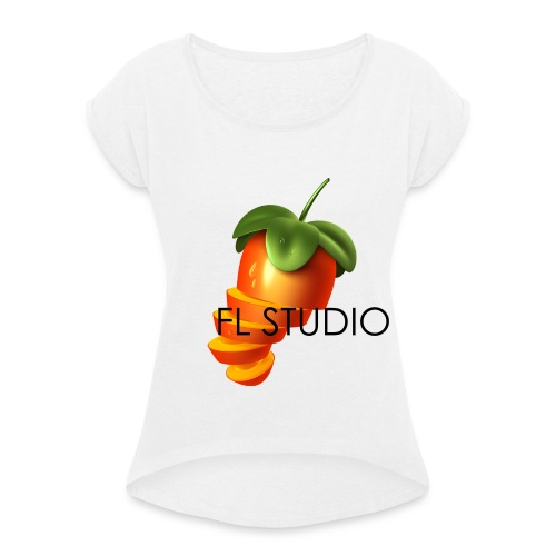 Sliced Sweaty Fruit - Women's T-Shirt with rolled up sleeves