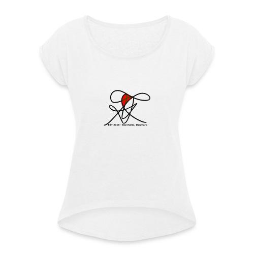 Bornholm Tee - Dame T-shirt med rulleærmer