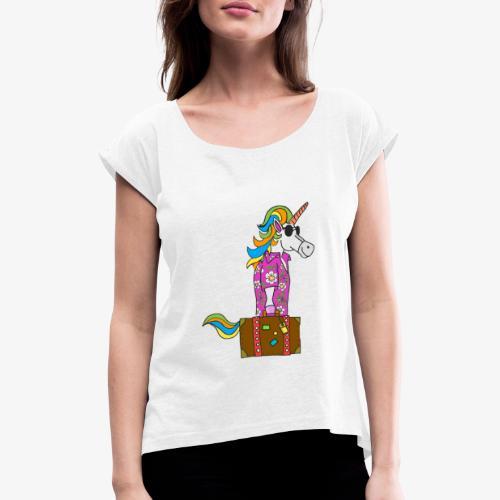 Unicorn trip - T-shirt à manches retroussées Femme