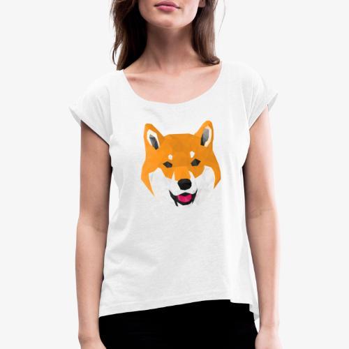 Shiba Dog - T-shirt à manches retroussées Femme