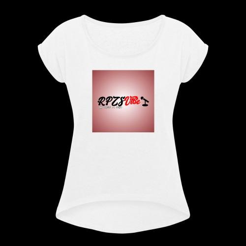 Rap Prosto Z Serca - Koszulka damska z lekko podwiniętymi rękawami