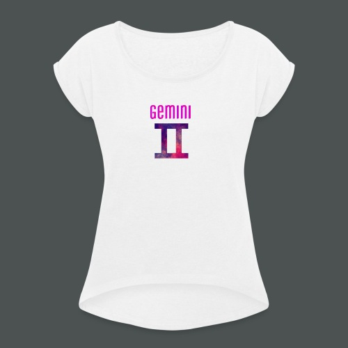 Galaxy gemini logo - Women's T-Shirt with rolled up sleeves