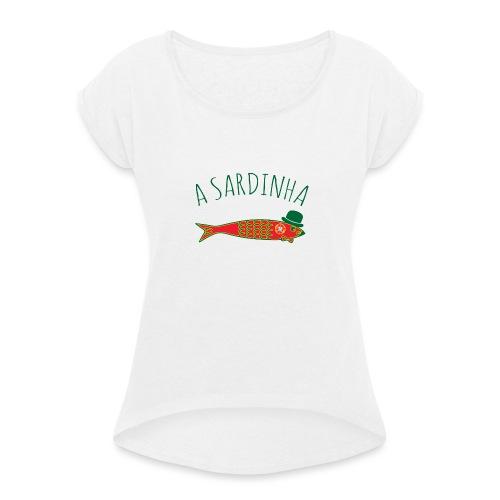 A Sardinha - Bandeira - T-shirt à manches retroussées Femme