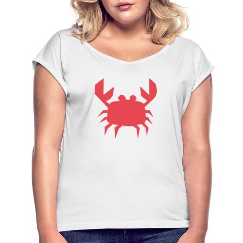 Krapu - Suhdetoimisto Kram Oy - Naisten T-paita, jossa rullatut hihat