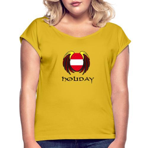 Holiday Österreich - Frauen T-Shirt mit gerollten Ärmeln