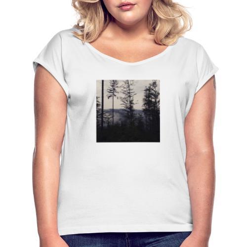 LAS W GÓRACH - Koszulka damska z lekko podwiniętymi rękawami