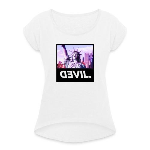 DEVIL. - T-shirt à manches retroussées Femme