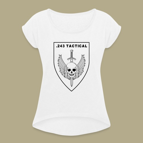 Club Logo - Vrouwen T-shirt met opgerolde mouwen