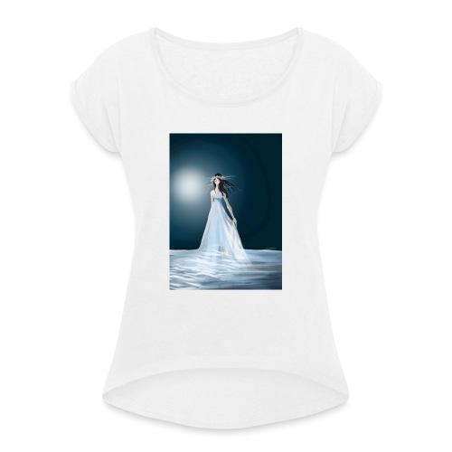 Czerwiec - Koszulka damska z lekko podwiniętymi rękawami