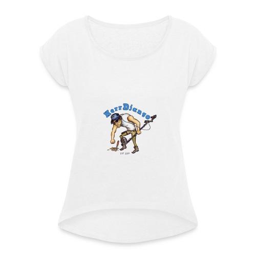 HerrDjango - Frauen T-Shirt mit gerollten Ärmeln