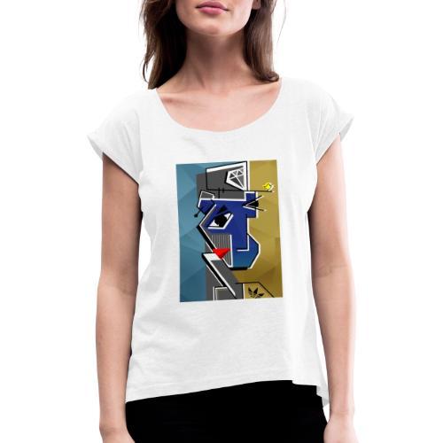 BBOY - Camiseta con manga enrollada mujer