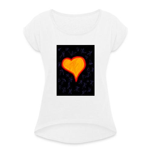 EBB28264 DA7C 4733 A693 59A1BA509DDC - Dame T-shirt med rulleærmer