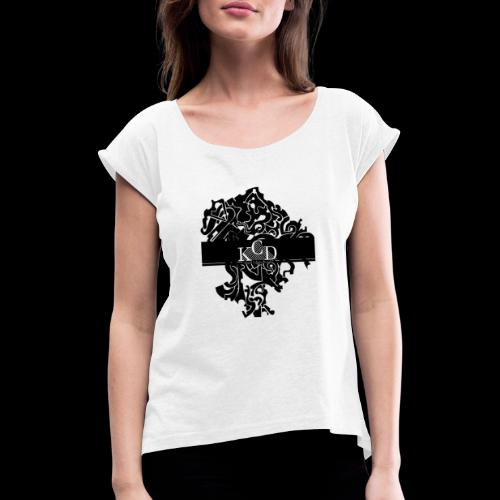 KCD Small Print - Women's T-Shirt with rolled up sleeves